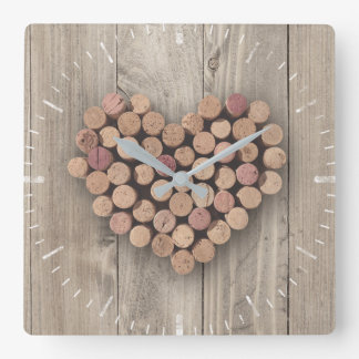 Rustic Wine Cork Clock