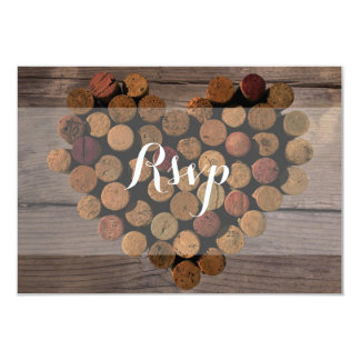 Rustic Wine Cork RSVP Card