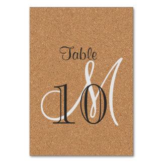 Rustic Wine Cork Wedding Monogram Table Number