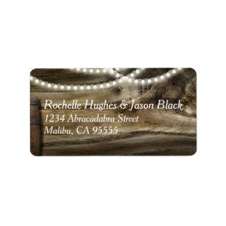 Rustic Winery Wedding Medium label