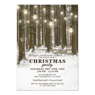Rustic Winter Corporate Christmas Holiday Party Card