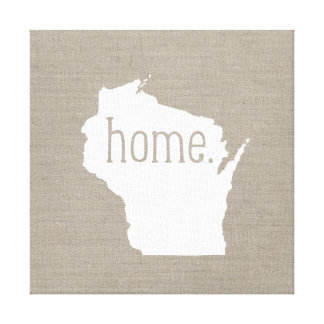 Rustic Wisconsin Home State Wrapped Canvas Art Canvas Prints