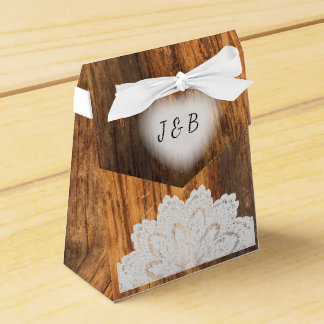 Rustic Wood and Lace Designs Favor Box