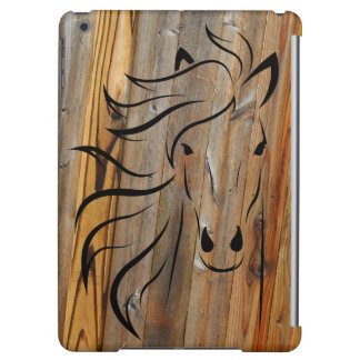 Rustic Wood And Wild Horses Cover For iPad Air