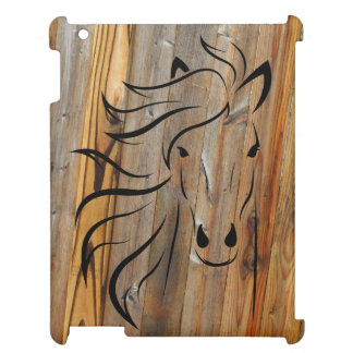 Rustic Wood And Wild Horses Cover For The iPad