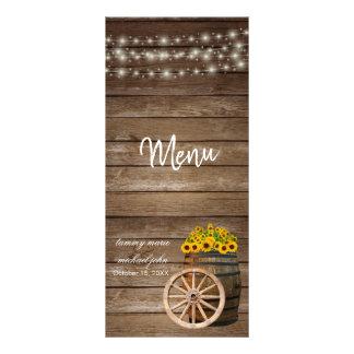 Rustic Wood Barrel and  Sunflower Wedding - Menu