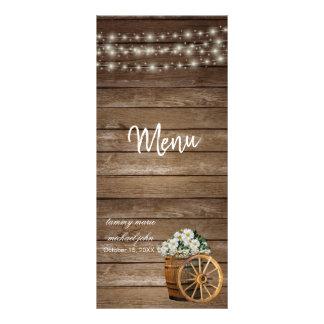 Rustic Wood Barrel and White Floral Wedding - Menu