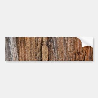 Rustic wood bumper stickers