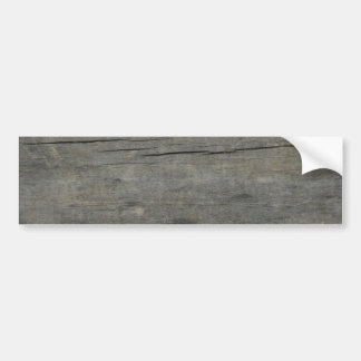 Rustic wood bumper sticker