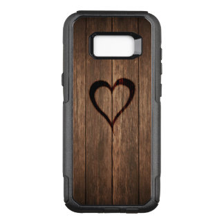 Rustic Wood Burned Heart OtterBox Commuter Samsung Galaxy S8+ Case