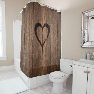 Rustic Wood Burned Heart Print