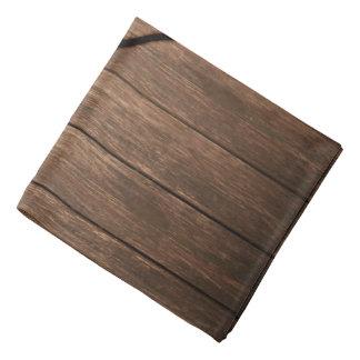 Rustic Wood Burned Heart Print Bandanas