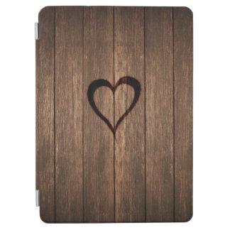 Rustic Wood Burned Heart Print iPad Air Cover