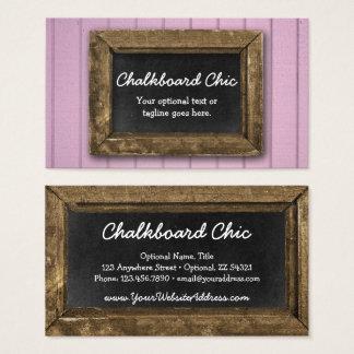 Rustic Wood Chalkboard Frame Shabby Chic Purple Business Card