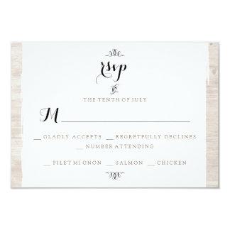 Rustic Wood Chic RSVP Invitation Card