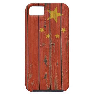 Rustic Wood China Flag iPhone 5 Case