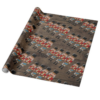 Rustic Wood Country Christmas Nutcracker Wrapping Paper