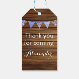Rustic wood country farmhouse boy thank you gift tags