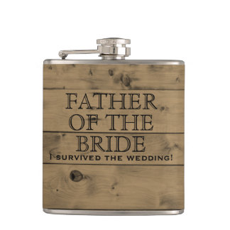 Rustic Wood Country Wedding | Father of the Bride Hip Flask