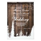 Rustic Wood Deer Pine Tree Wedding Invitations