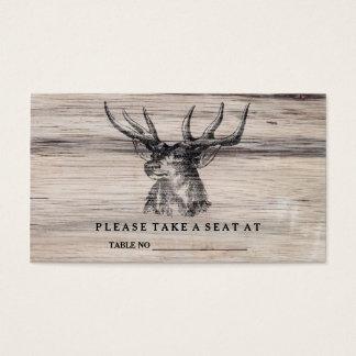 Rustic Wood | Deer Wedding Table Number Card