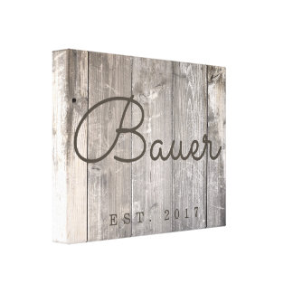 Rustic Wood Family Canvas