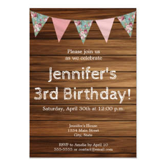 Rustic wood farmhouse country girl happy birthday card