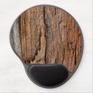 Rustic wood gel mouse mat