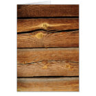 Rustic Wood Grain Boards Design Country Gifts Card