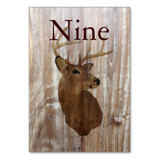 rustic wood grain deer the hunt is over wedding card