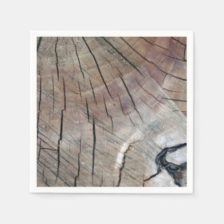 Rustic Wood Grain Design Paper Napkin