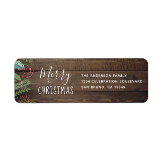 Rustic Wood Holly & Pine Christmas Holiday Party