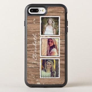 Rustic Wood Look Instagram Photo Collage OtterBox Symmetry iPhone 7 Plus Case