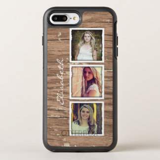 Rustic Wood Look Instagram Photo Collage OtterBox Symmetry iPhone 8 Plus/7 Plus Case