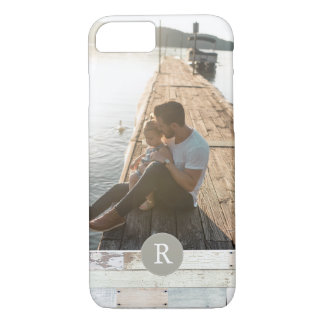 Rustic Wood + Monogram iPhone 8/7 Case