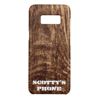 Rustic Wood  - monogrammed Case-Mate Samsung Galaxy S8 Case