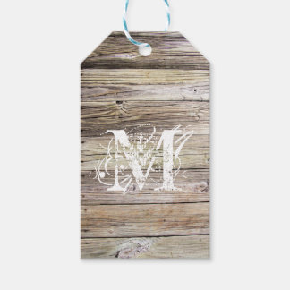 Rustic Wood Monogrammed Gift Tags Pack Of Gift Tags
