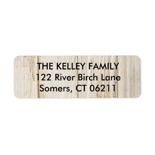 Rustic Wood Return Address Label