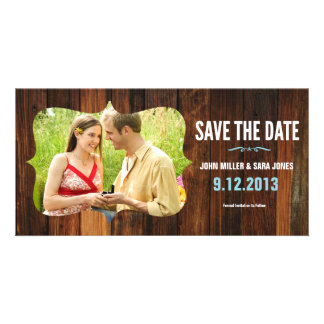 Rustic Wood Save The Date Customized Photo Card
