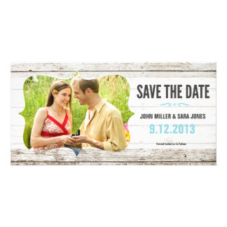 Rustic Wood Save The Date Photo Cards