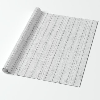 Rustic Wood Shabby White Barn Boards Pattern Wrapping Paper