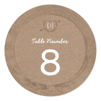 Rustic Wood Slice | Table Number Card