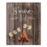 rustic wood s'more part wedding sign print