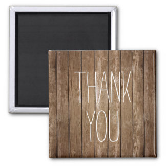 Rustic Wood Thank You Magnet