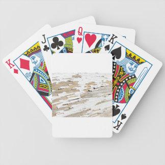 Rustic Wood Vintage Design Bicycle Playing Cards