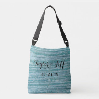 Rustic Wood Wedding Date Tote Bags