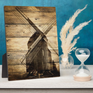 rustic wood western windmill Barn wedding Plaque
