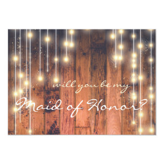 Rustic Wood | Will you be my Maid of Honor Card