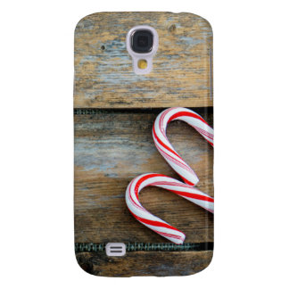 Rustic Wood with Christmas Candy Canes
