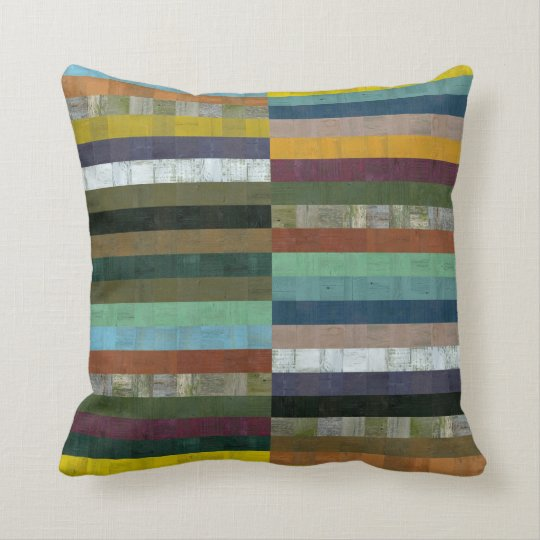 Rustic Wooden Abstract ll Throw Pillow